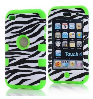 Touch 4,Touch 4 case,iPod Touch 4 Case,iPod Touch Generation 4 4th Case,Linycase Touch 4 hard case with 3in1 Hybrid Design hard soft back Touch 4 Case Cover for iPod Touch 4 4th Generation tvs tm snap on protector hybrid hard gel case for apple ipod touch 4th generation 4th gen