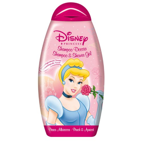 Disney 71221 Shampoo Doccia Cinderella, Pesca e Albicocca, Rosa