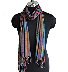 Weavers Villa Pure Viscose Stripes Stole