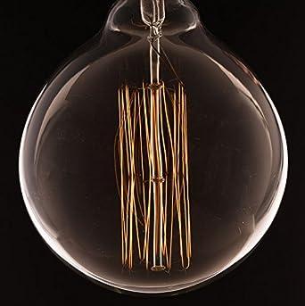 Vintage grande globo in più con gabbia di luce filamento della lampadina ( vecchio Edison) E27 ...