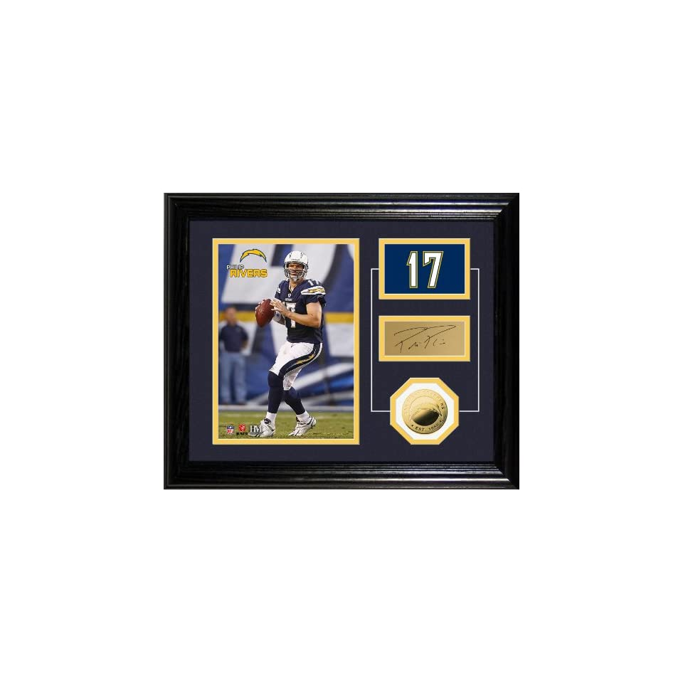 Highland Mint NFL San Diego Chargers Philip Rivers Player Pride Desk Top Photomint