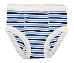 Under the Nile Organic Training Pants (12-24 M, Blueberry Stripe)