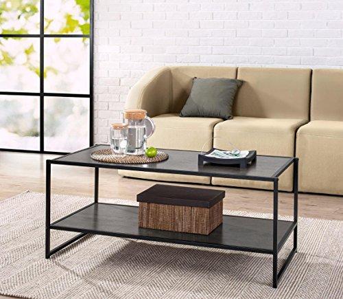 Zinus Modern Studio Collection Deluxe Rectangular Coffee Table, Espresso (Storage Coffee Table Espresso compare prices)