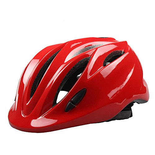 Megach Children Infant Helmet Mini Ultralight Bicycle Secure & Safety Headguard Adjustable Baby Kids Bike Protective Harnesses Cap for Outdoor/Indoor with Light (red)