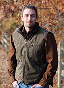 Outback Trading Co Men's Co. Sawbuck Flannel Lined Oilskin Vest Sage Small