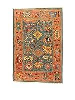 Eden Carpets Alfombra Atzeri Verde/Naranja/Multicolor 264 x 179 cm