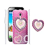 FUSON PREMIUM VALENTINE LOVE DESIGNER HARD BACK CASE COVER FOR MICROMAX A116 CANVAS HD - PINK COLOUR