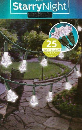 Set Of 25 Starrynight Light Show White Led Star Lights - Patio & Garden