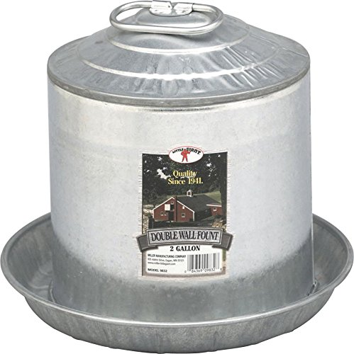Miller Manufacturing Double Wall Fount (Galvanized Waterer compare prices)