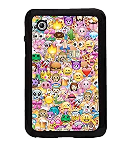 Fuson Premium 2D Back Case Cover Crazy pattern With Multi Background Degined For Samsung Galaxy Tab 2 P3100