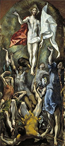 The Perfect Effect Canvas Of Oil Painting 'El Greco The Resurrection 1596 1600 ' ,size: 10 X 22 Inch / 25 X 57 Cm ,this Vivid Art Decorative Prints On Canvas Is Fit For Hallway Artwork And Home Gallery Art And Gifts