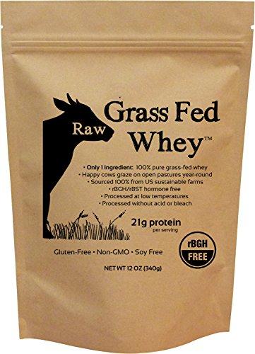 Raw Grass-Fed Whey - Undenatured 100% Grass Fed Whey Protein Powder, GMO-Free