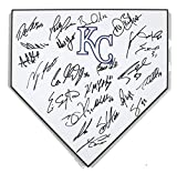 Kansas City Royals 2017 Team Autographed Signed Home Plate - 24 autographs