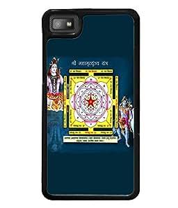 Fuson Premium Maha Mrityinjay Yantra Metal Printed with Hard Plastic Back Case Cover for Blackberry Z10