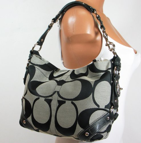 Coach Signature Carly Sac Shoulder Hobo Handbag Bag 85