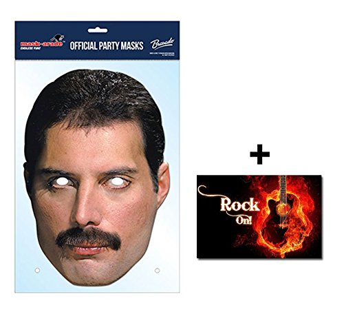 Freddie Mercury Official Queen Face Mask for Fancy dress Up