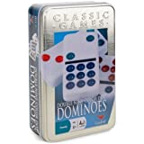 Cardinal Double Nine Color Dot Dominoes in Color Collectors Tin