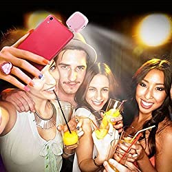 54 LED Night Light Using Selfie Enhancing Dimmable Flash Cellphone Camera Flash Fill-in Light Pocket Spotlight Photo Speedlight for iPhone 6plus/6/5s/5/4s/4/, Samsung Galaxy S6 Edge/S6/S5/S4/S3/A7/A5, Galaxy Note 4/3/2, Blackberry Android Smartphone Tablets Camera iPhone (Pink)
