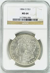 1884-O MS64 Morgan Silver Dollar Graded by NGC