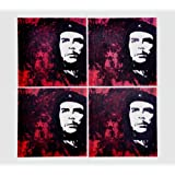Che Theme Coaster Glass Table Coasters - Limited Edition