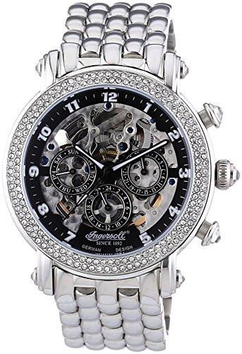 Ingersoll – Orologio da polso, cronografo automatico, acciaio INOX, Donna | Orologi Italiani