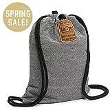 LOCTOTE Flak Sack - The Original Theft-Resistant Drawstring Backpack | Anti-theft | Theft-Proof Travel Backpack | Lockable | Slash-Resistant (Color: Steel Grey)