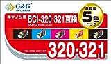 G&G CANON BCI-321・320PGBK 5個パック NIC-320+321-5P