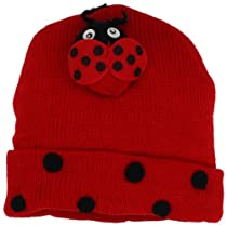 Kidorable Girls 2-6X Ladybug Hat, Red, One Size