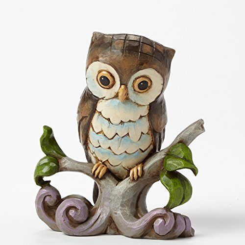 Owl Collectibles - Jim Shore Heartwood Creek Mini Owl on a Branch Figurine