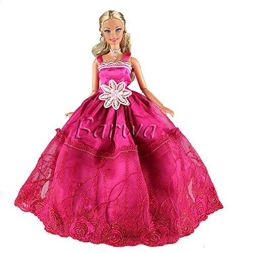 g nstig 5 st hochzeit fashionistas prinzessinnen kleidung kleider puppenkleid f r barbie puppen. Black Bedroom Furniture Sets. Home Design Ideas