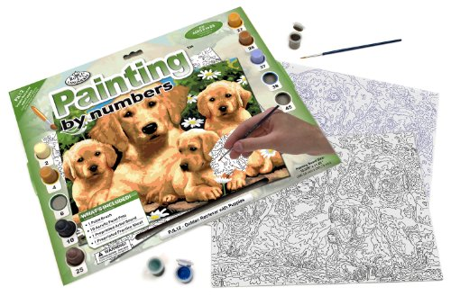 Royal & Langnickel Painting by Numbers Junior Large Art Activity Kit, Golden Retriever - 1
