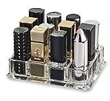 Acrylic Oversized Lipstick Organizer & Beauty Care Holder Provides 12 Space Storage | By Alegory (Clear)