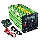 Edeoca 2000W Power Inverter DC 24V to 110V AC Power Converter - Green
