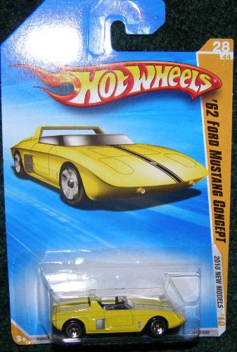 2010 HOT WHEELS NEW MODELS YELLOW '62 FORD MUSTANG CONCEPT
