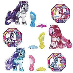 My Little Pony Cutie Mark Magic Water Cuties Figure Set of 3 - Rarity, Pinkie Pie & Diamond Mint