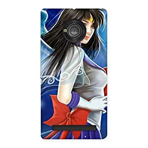 Delighted Angel Looks Print Back Case Cover for Yu Yuphoria