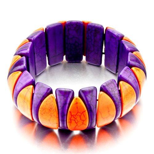 Pugster Purple Turquoise Tooth Bracelets