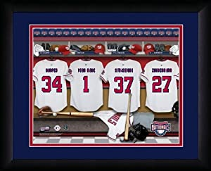 MLB Personalized Locker Room Print Black Frame Customized Washington Nationals by You