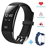 Fitness Tracker/Smart Bracelet, Hobest Smart Watch Waterproof Pedometer Activity Tracker with Sleep Monitor, Heart Rate Monitor, Blood Pressure/Oxygen Monitor Bluetooth 4.0 for IOS & Android