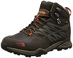 New The North Face Men\'s Hedgehog Hike Mid GTX Hiking Boot Brown/Orange 8.5