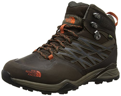 The North FaceHedgehog Hike Mid Gore-Tex - Scarpe Primi Passi uomo, MARRóN (MOREL BROWN/ORANGE RUST _ GRW), 44 EU