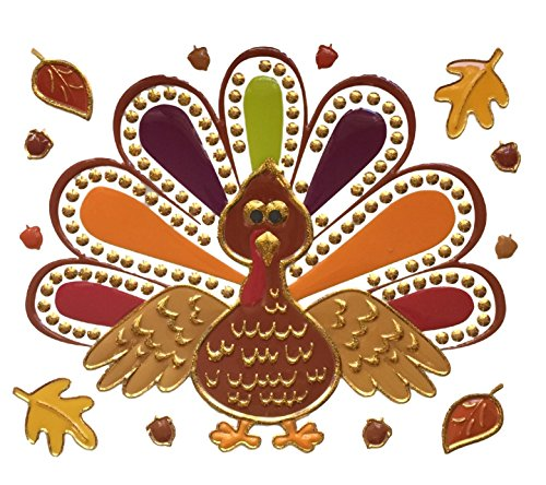 Thanksgiving Turkey Window Wall Mirror Cling by Smart Living