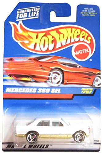 #767 Mercedes 380 Sel Red Card Collectible Collector Car Mattel Hot Wheels