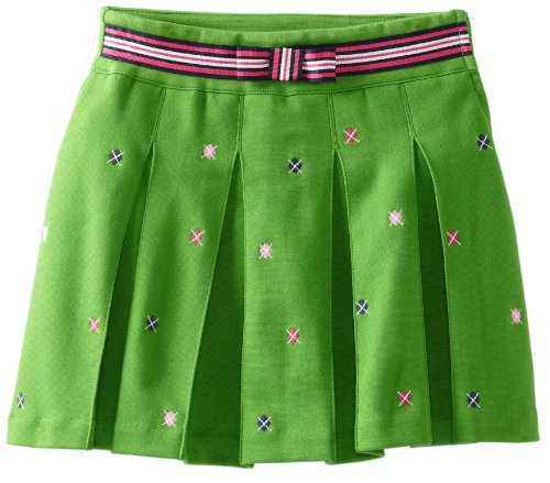 Hartstrings Girls 7-16 Big Pleated Knit Ponte Embroidered Skort