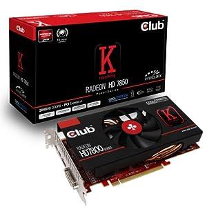 Club 3D CGAX-78560 AMD Radeon HD 7850 Grafikkarte (PCI-e, 2GB GDDR5 Speicher, DVI, HDMI, DisplayPort, 1 GPU)