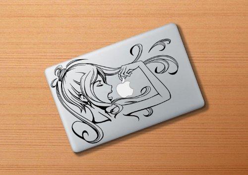 Apple Style りんごマークの周りに貼るステッカーシールfor MacBook Air 11inch 「beautiful woman」
