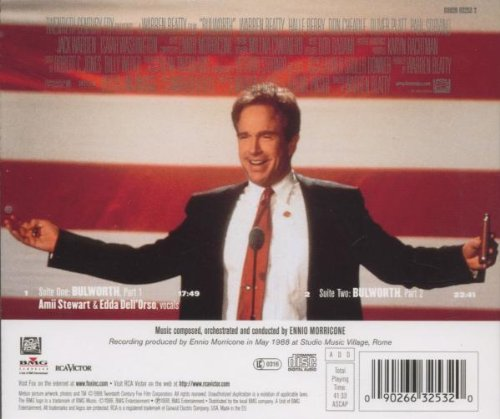Original album cover of Bulworth: Original Score Soundtrack by Ennio Morricone