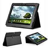 GMYLE (TM) Black PU Leather Slim Flip Folio Carry Case Cover Stand Folder for Asus Transformer Pad Infinity TF700...