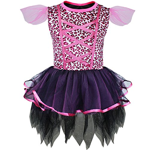 YiZYiF Baby Girls Cat Leopard Outfits Halloween Costume Christmas Fancy Dress