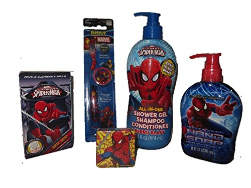 Amazing Spiderman Bath + Body Toothbrush Combo Gift Pack